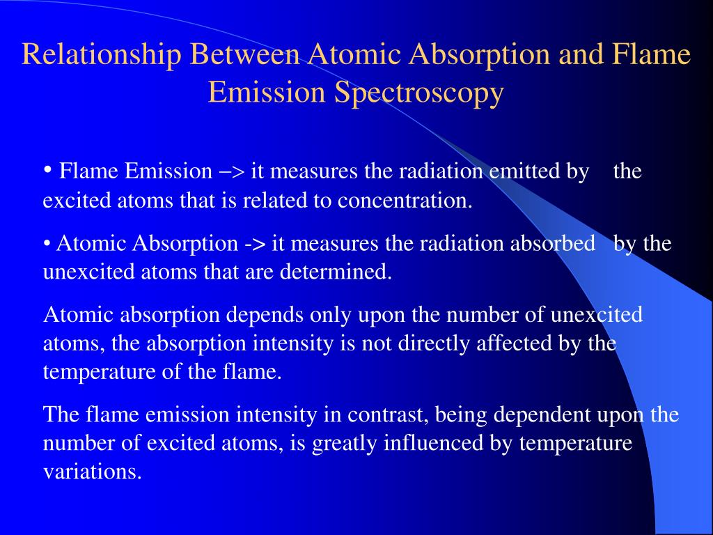 Relationship Between Atomic Absorption and Flame Emission Spectroscopy