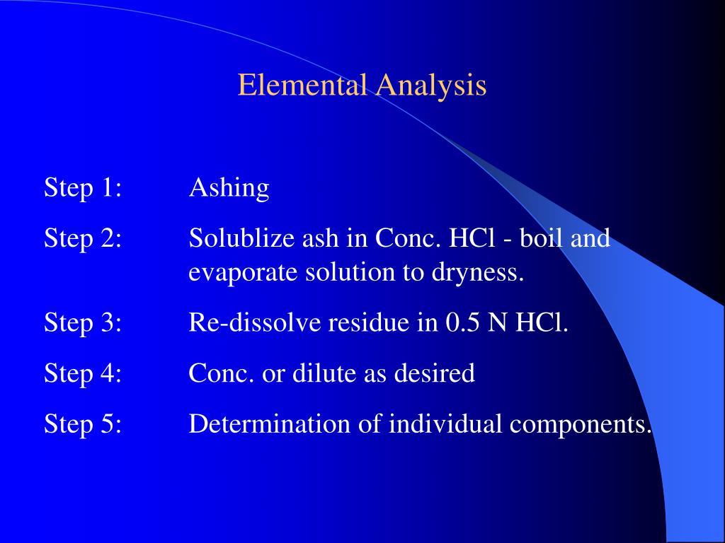 Elemental Analysis