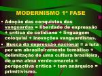 modernismo 1 fase
