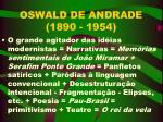 oswald de andrade 1890 1954