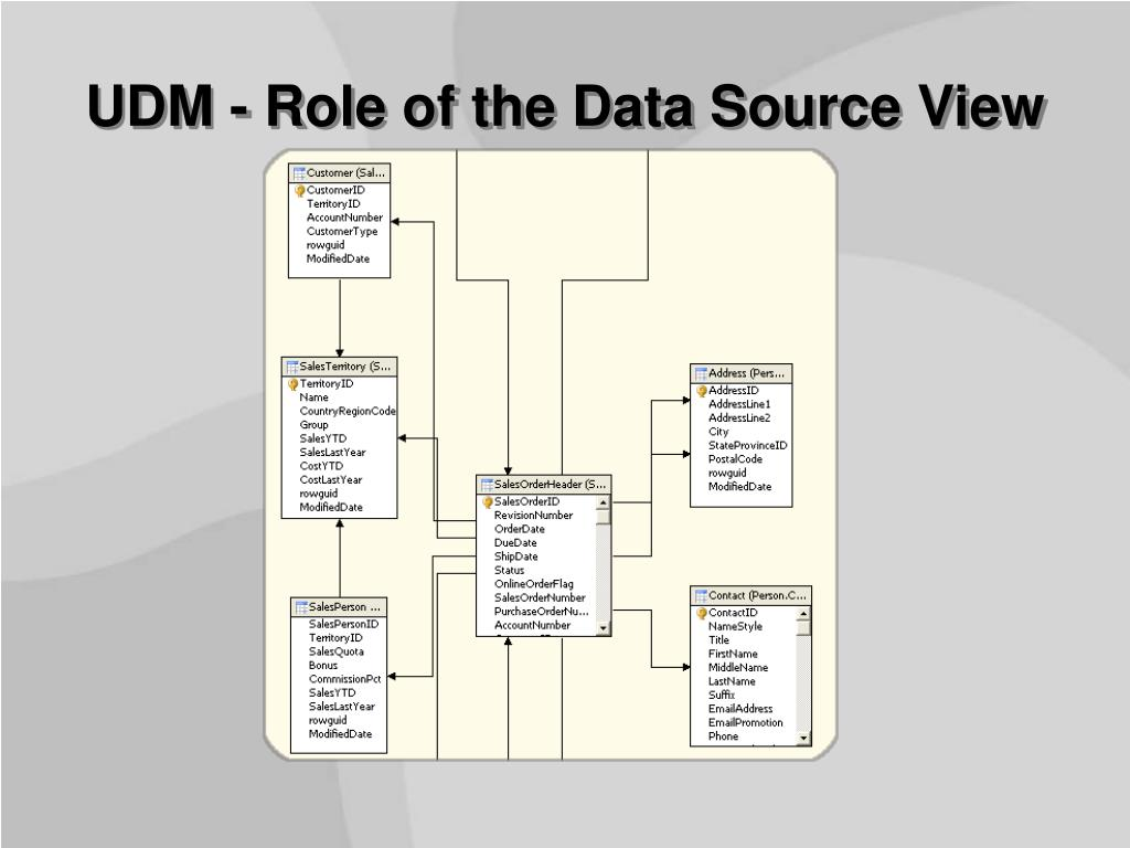 UDM - Role of the Data Source View