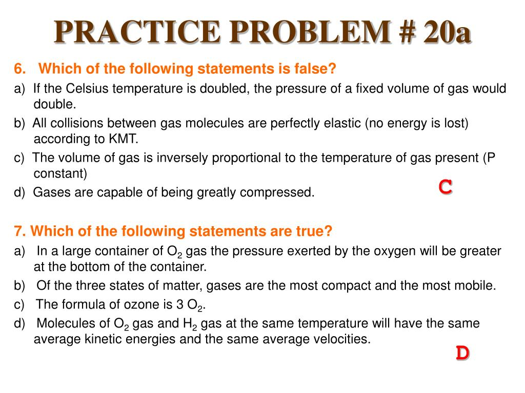PRACTICE PROBLEM # 20a
