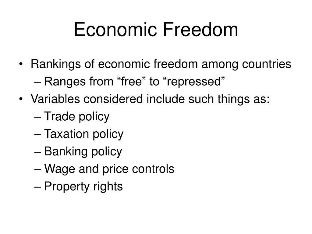 Economic Freedom