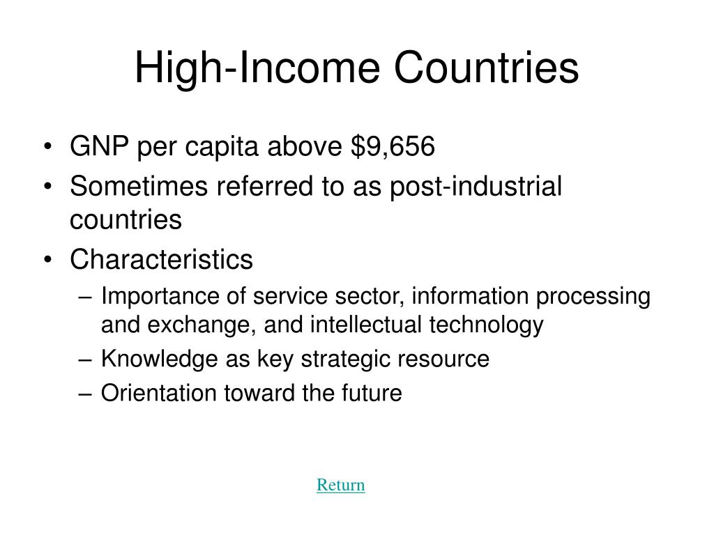 High-Income Countries