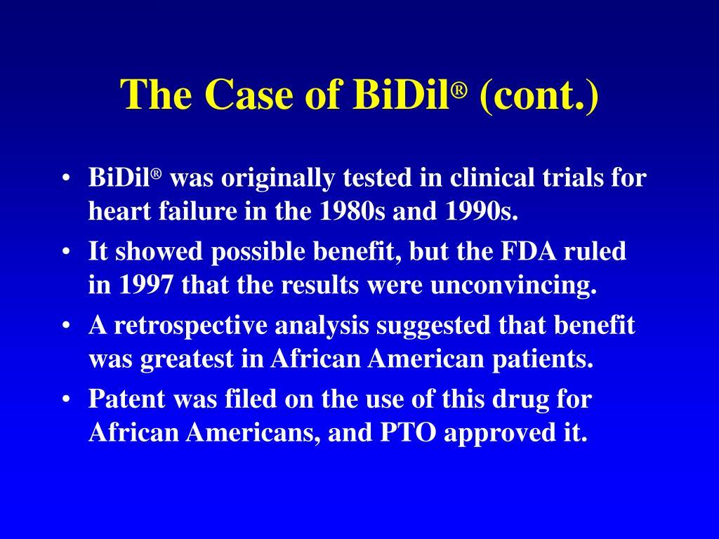 The Case of BiDil