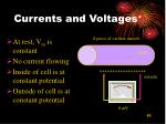 currents and voltages