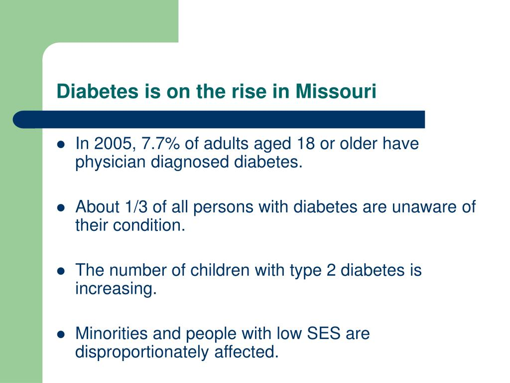 Diabetes is on the rise in Missouri