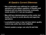 al qaeda s current dilemmas