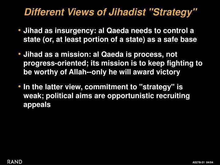 """Different Views of Jihadist """"Strategy"""""""