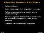 elements of pre islamic tribal warfare