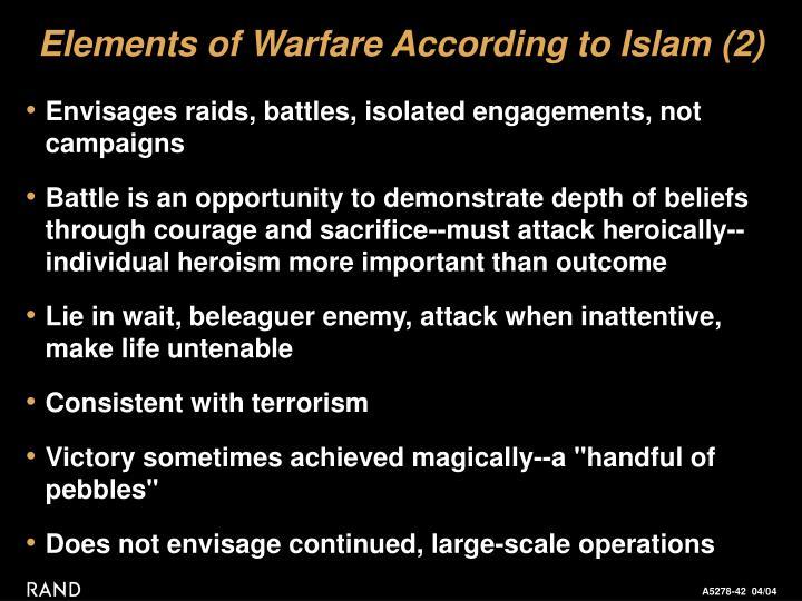 Elements of Warfare According to Islam