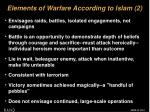 elements of warfare according to islam 2