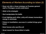 elements of warfare according to islam 3