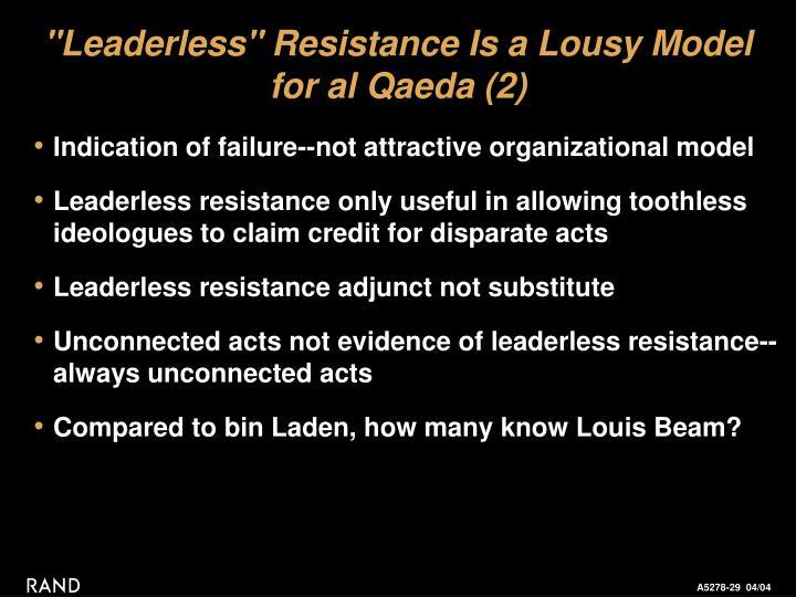 """Leaderless"" Resistance Is a Lousy Model"