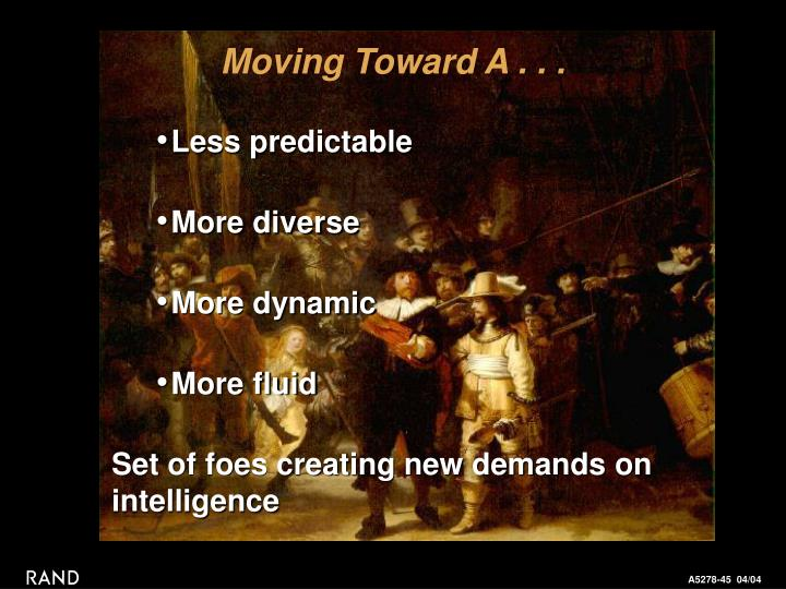 Moving Toward A . . .