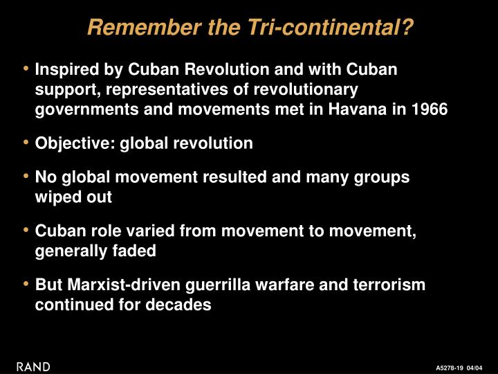 Remember the Tri-continental?