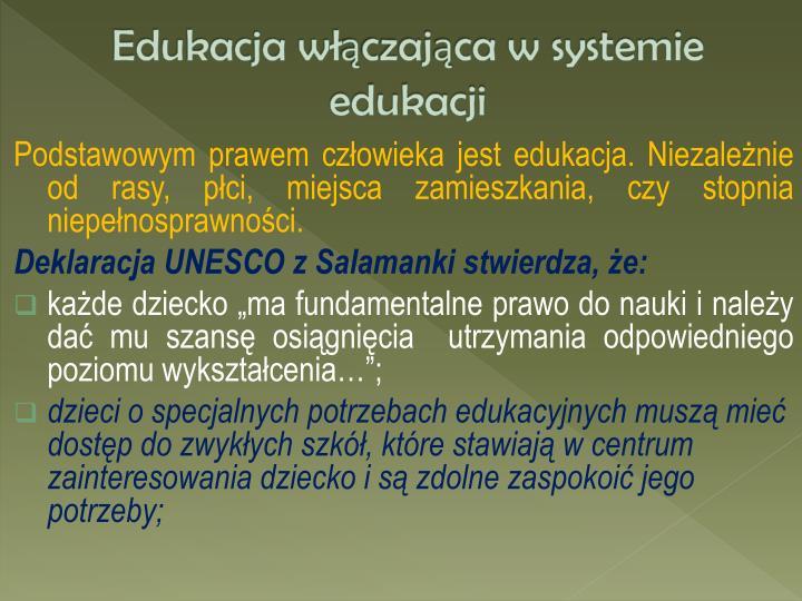 Edukacja w czaj ca w systemie edukacji