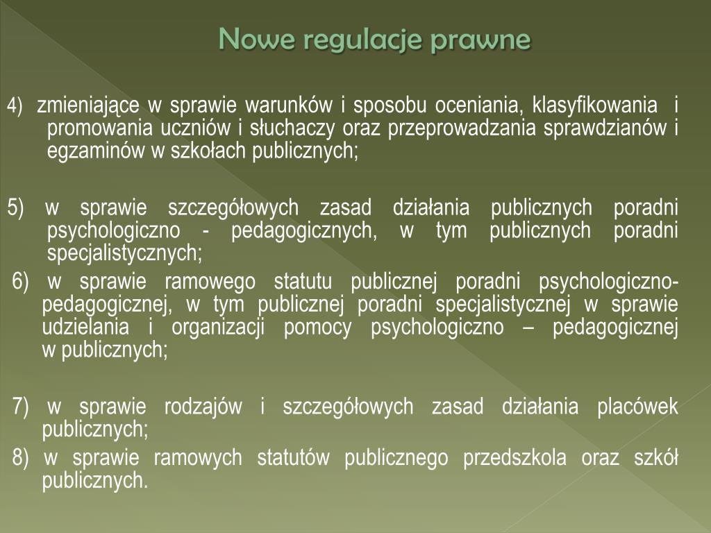 Nowe regulacje prawne