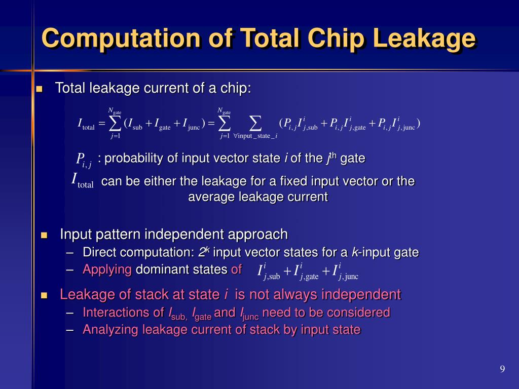 Computation of Total Chip Leakage