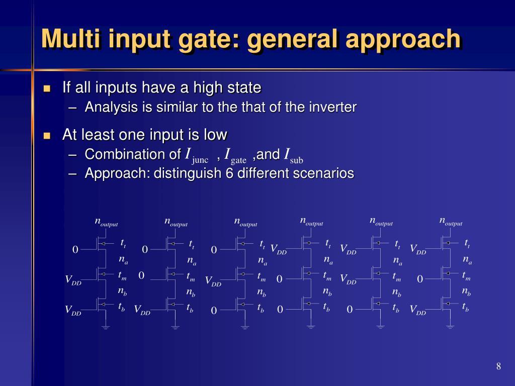 Multi input gate: general approach