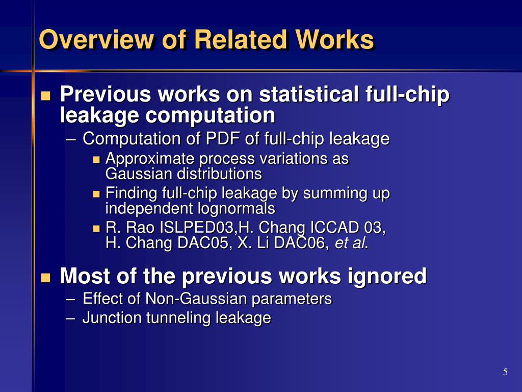 Overview of Related Works