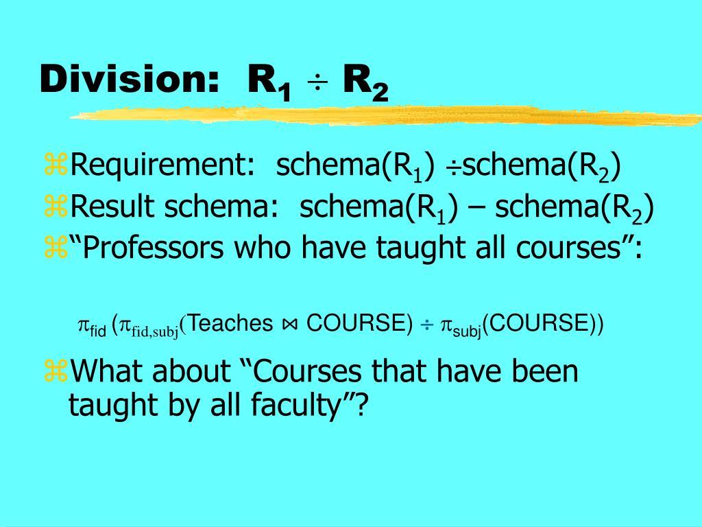 Division:  R