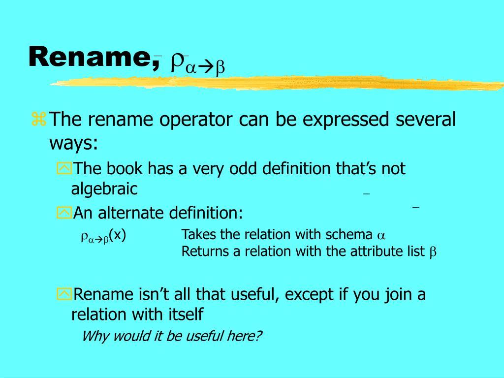 Rename,