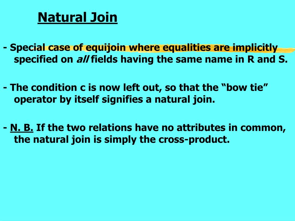 Natural Join