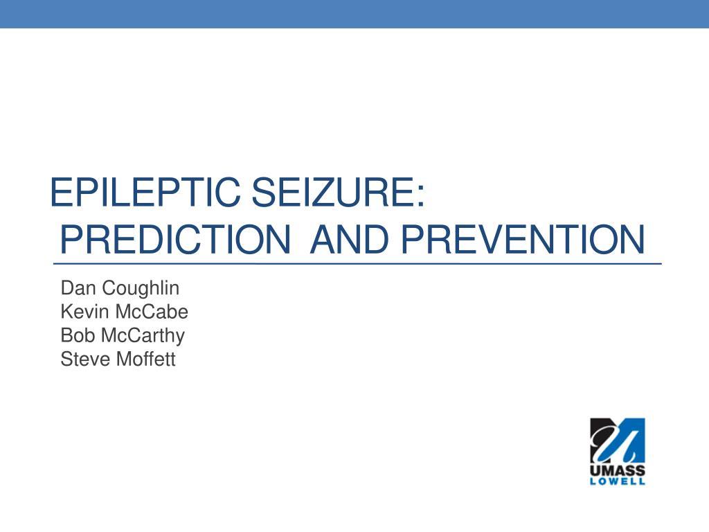 epileptic seizure prediction and prevention
