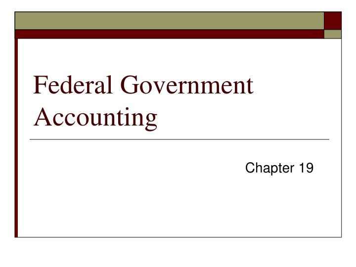 federal government accounting n.