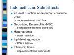 indomethacin side effects