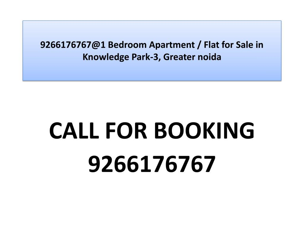 9266176767@1 Bedroom Apartment / Flat for Sale in Knowledge Park-3, Greater