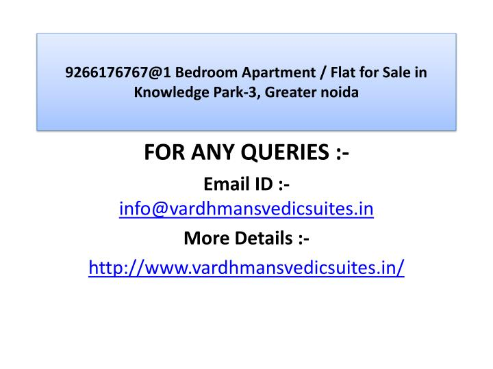 9266176767@1 bedroom apartment flat for sale in knowledge park 3 greater noida3