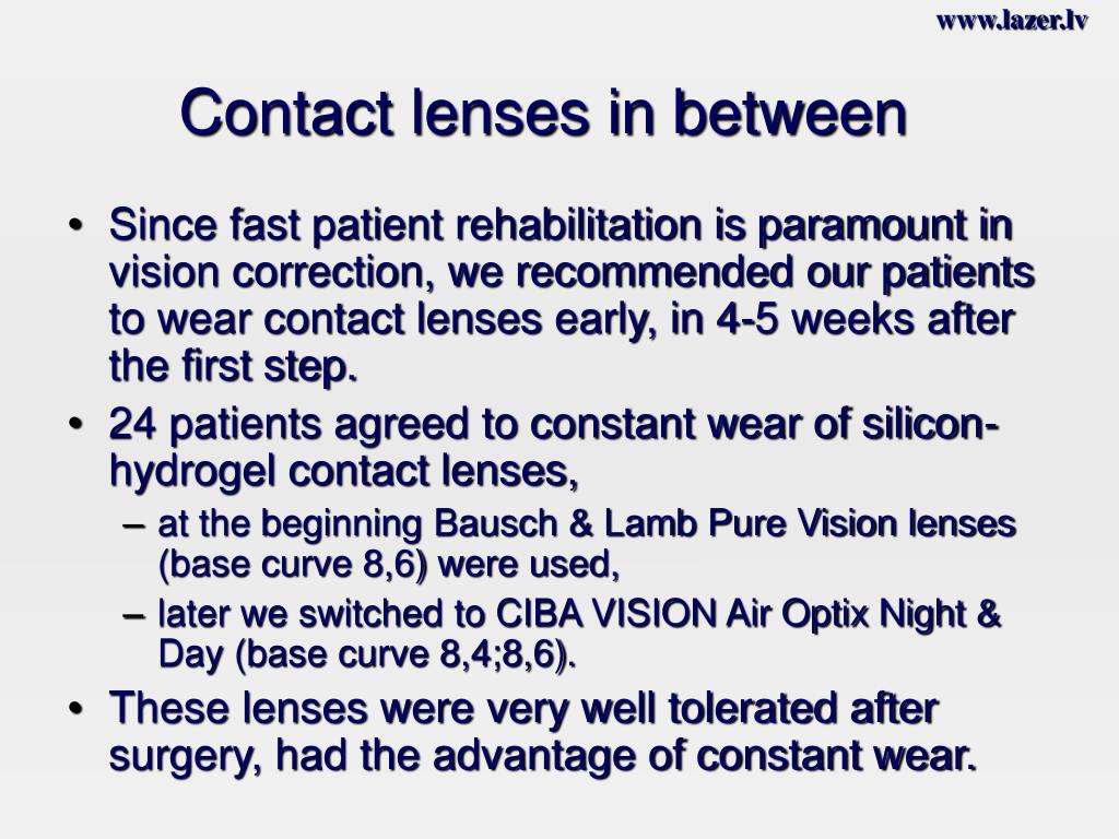 Contact lenses in between