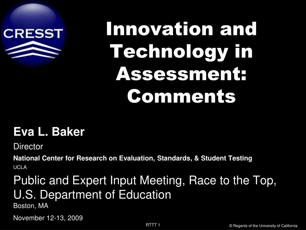 innovation and technology in assessment comments