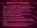 williamas f willoughby
