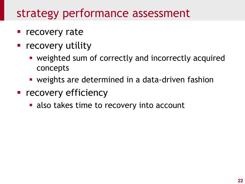 strategy performance assessment