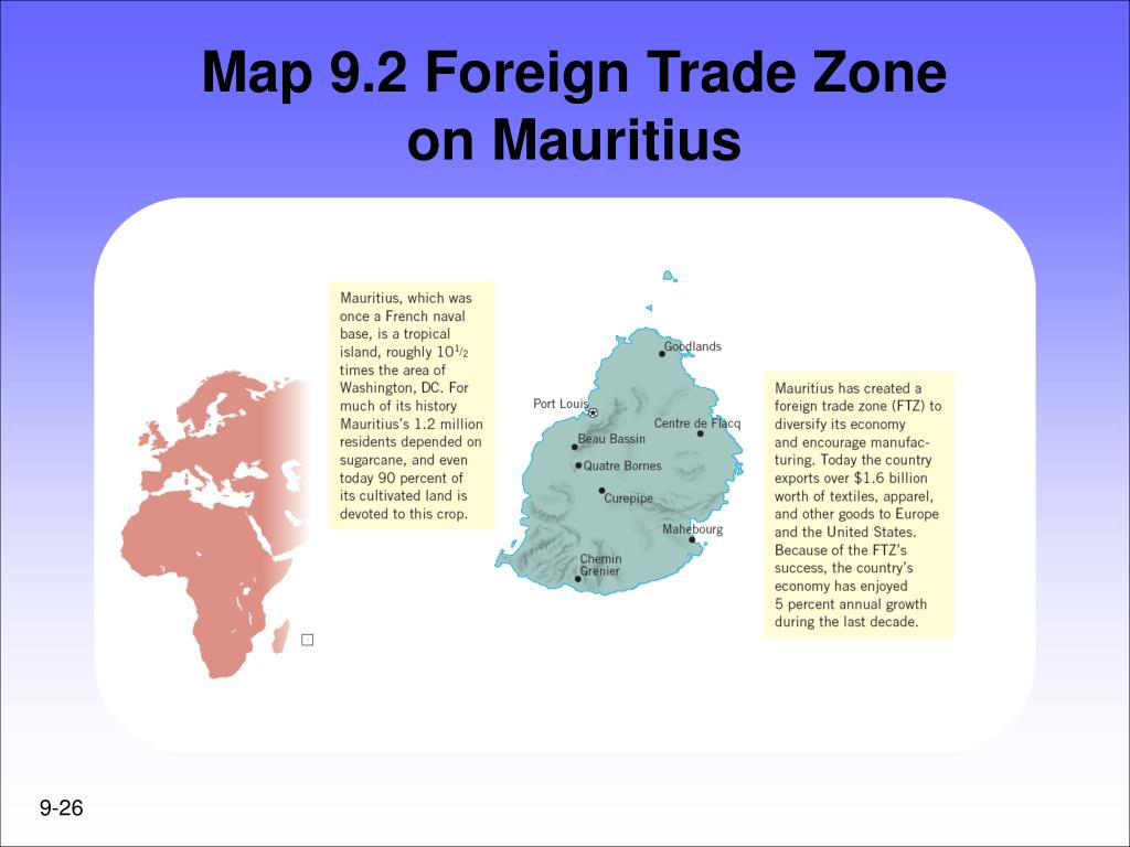Map 9.2 Foreign Trade Zone