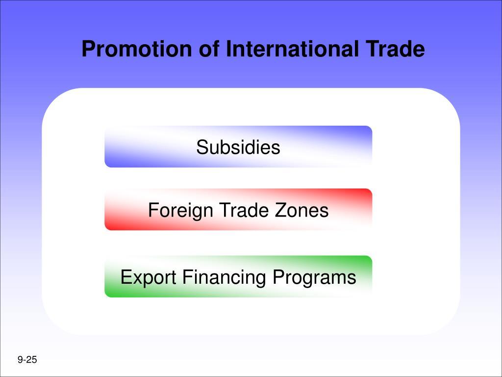 Promotion of International Trade