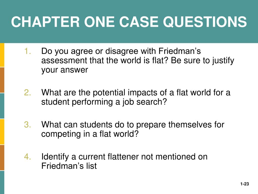 CHAPTER ONE CASE QUESTIONS