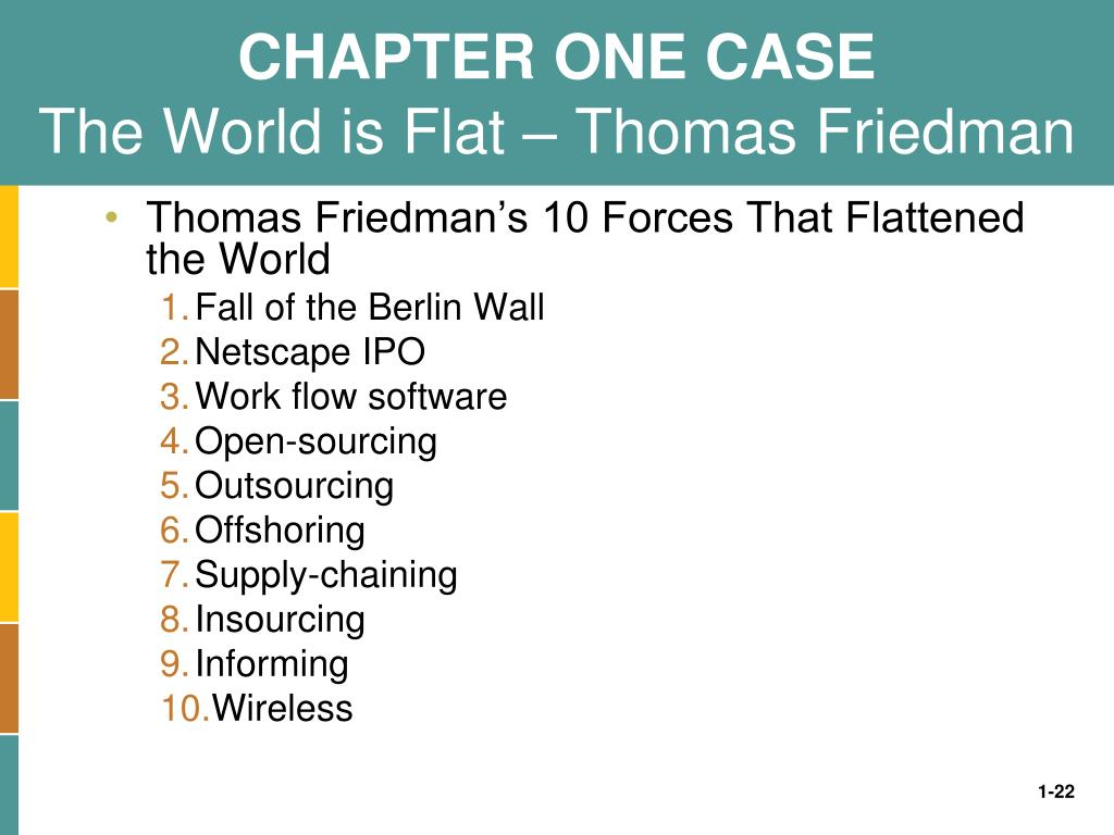 CHAPTER ONE CASE