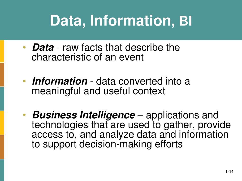 Data, Information