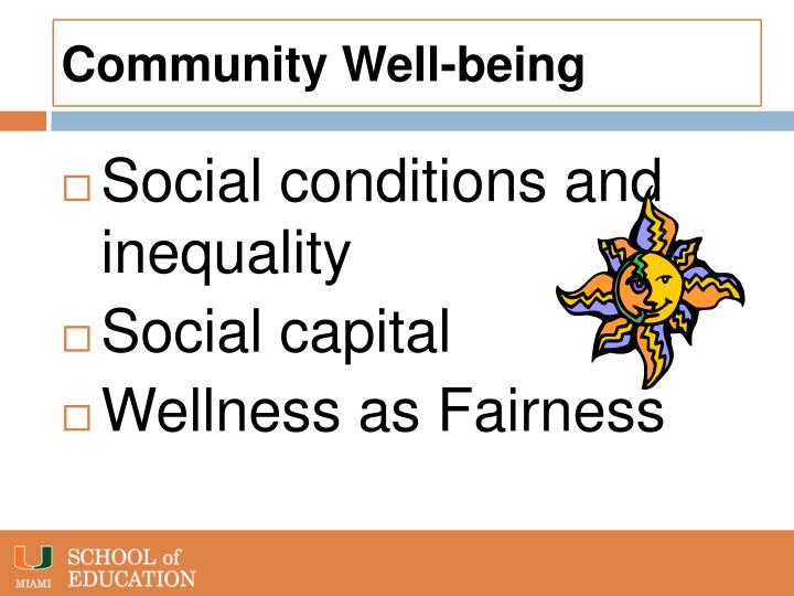Community well being