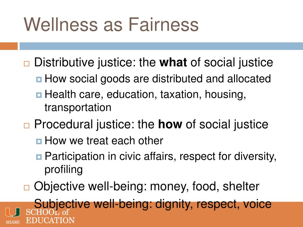 Wellness as Fairness