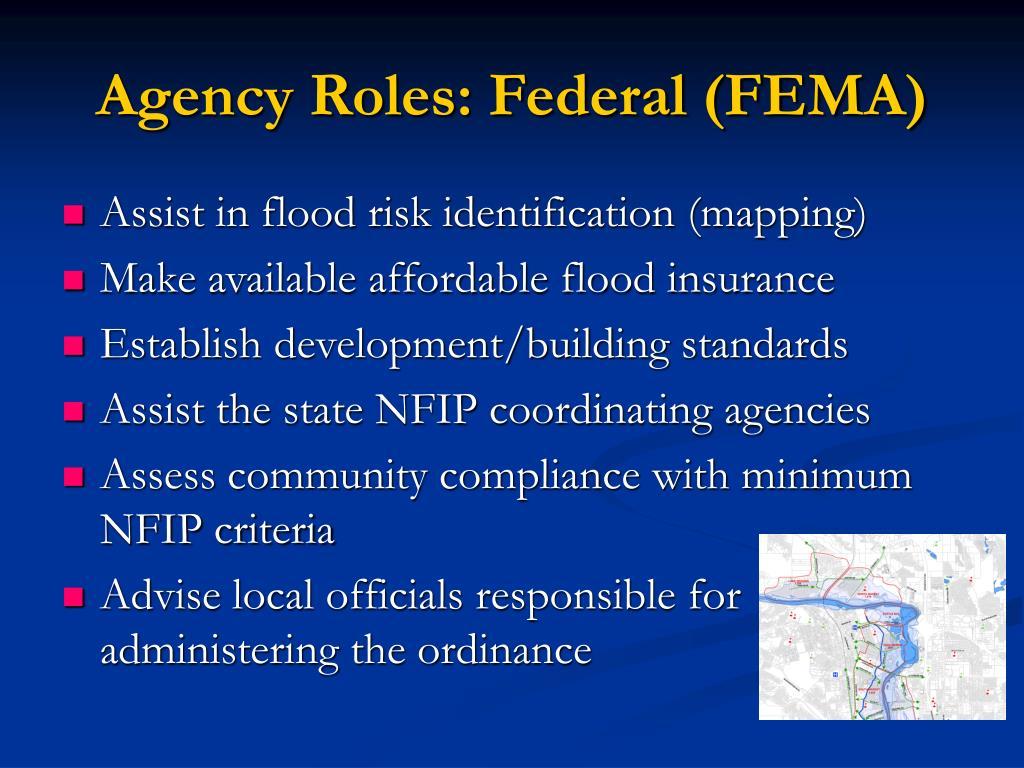 Agency Roles: Federal (FEMA)