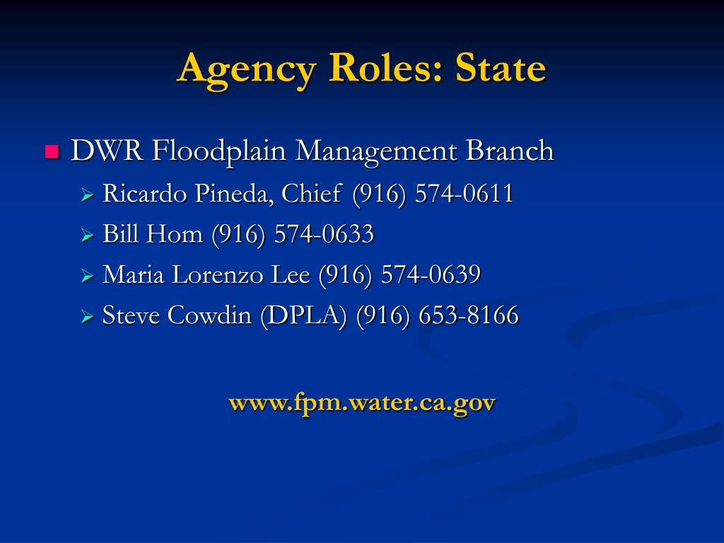 Agency Roles: State