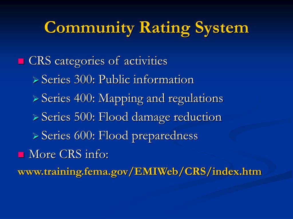 Community Rating System