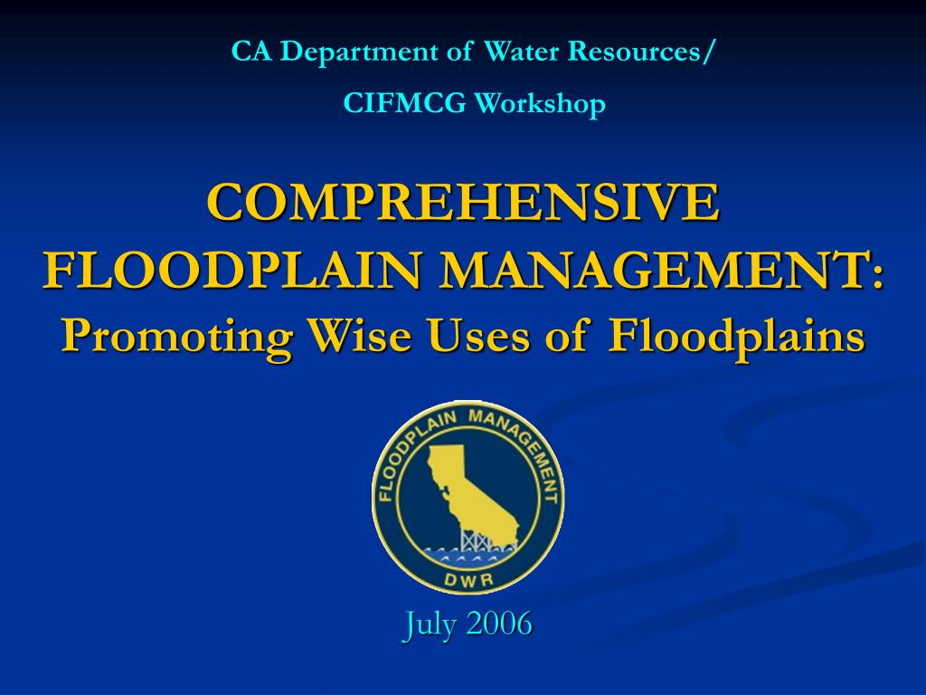 CA Department of Water Resources/