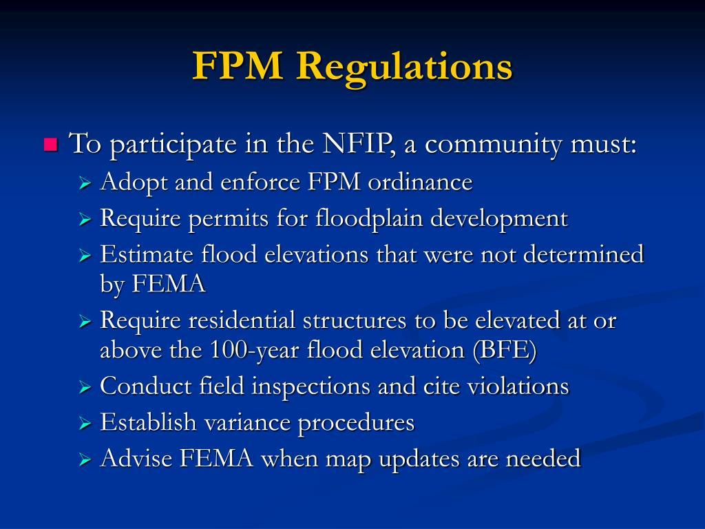 FPM Regulations