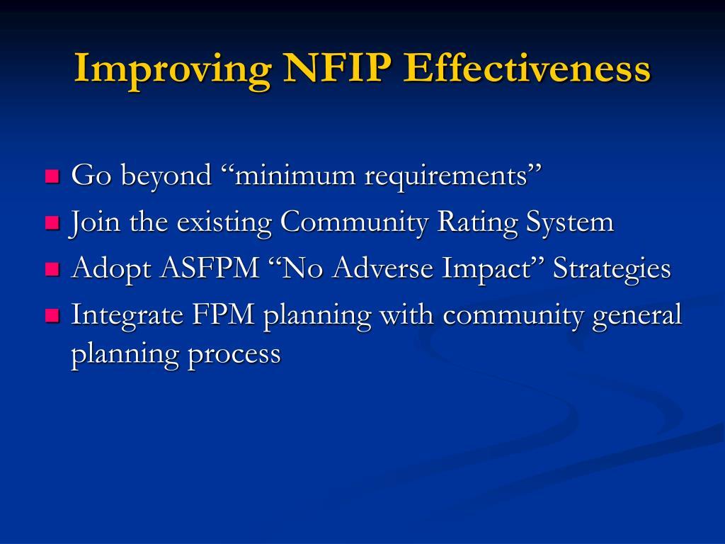 Improving NFIP Effectiveness